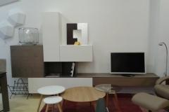 Mueble salón blanco poro abierto-gris